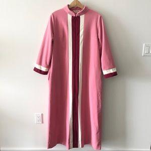 Vintage 70s Vanity Fair Fleece House Coat Gown Zip